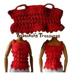 Crochet Barbie Top Free Pattern