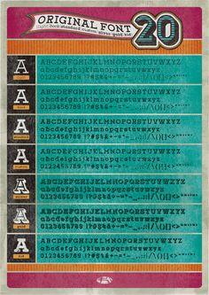 original font [No.20]  タイプライター系フォント。クセを持った曲線は使わず、よりシンプルに。