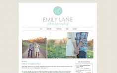 Wordpress Photography Theme - Premade Design with Image Slider, Instant Download