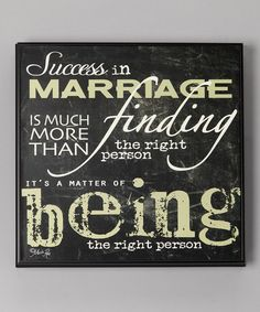 Take a look at this 'Success in Marriage' Wall Art by North American Enclosures on #zulily today!