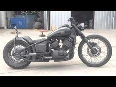 """Black Smoke"" 2007 Yamaha V Star 650 Custom Bobber - YouTube"