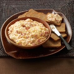 Slow-Cooked Reuben Spread Recipe -I love Reuben anything, and this is a favorite appetizer. It's also a warm and yummy crowd-pleaser and a stress-free way to rally Super Bowl spirits! —June Herke, Watertown, South Dakota