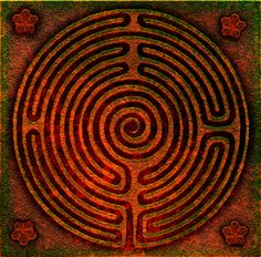 labyrinth  - distressed bronze by Tom Butler #TB #Technoglyf