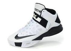 57e03c1899f Mens Nike Zoom Lebron Soldier 6 White Black Cheap Nike Running Shoes