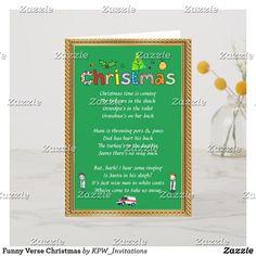 Funny Verse Christmas Holiday Card