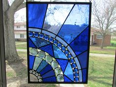 Etsy :: Your place to buy and sell all things handmade Modern Stained Glass, Custom Stained Glass, Stained Glass Birds, Faux Stained Glass, Stained Glass Designs, Stained Glass Panels, Stained Glass Projects, Stained Glass Patterns, Mirror Mosaic