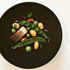 Roasted Mediterranean Sea bass with fried gnocchi green peas broccoli purée and spinach mint emulsion. #instafood #TheArtOfPlating #foodporn #foodstagram  #yumyum #kitchen #gastronomy #chef #chefstalk #chefsroll #foodart #foodphotography #gastroart #expertfoods #ChefOfInstagram #paris #foodshoot #foodpic #michelinstar #food #foodie #foodphoto #finedining #foodandwine #chefscut #pastry #cuisine #dessert #yum #yummy by eldarkabiri