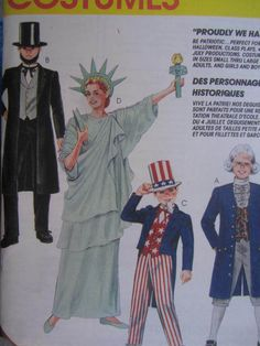 See Sally Sew-Patterns For Less - Lady Liberty Abe Lincoln Uncle Sam Historic McCall's 7339 Costume Sewing Pattern Sz. 12 - 14 , $11.00 (http://stores.seesallysew.com/lady-liberty-abe-lincoln-uncle-sam-historic-mccalls-7339-costume-sewing-pattern-sz-12-14/)