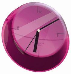 Casa Bugatti Glamour zegary ścienne, kolorowe zagary, kolorowa nowoczesna kuchnia, akcesoria wyposażenie wnętrz, fioletowy, fioletowa