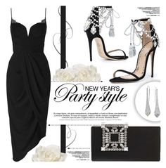 """New Year's Party Style"" by yurisnazalieth ❤ liked on Polyvore featuring Marchesa, Zimmermann, Allstate Floral, Manolo Blahnik and Diamond in the Rough"