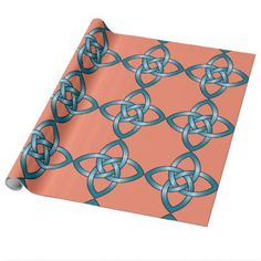 blue celtic know wrapping paper - pattern sample design template diy cyo customize