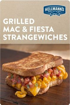 Salsa? Mac AND cheese? This strangewich is perfect for kids of all ages. Simple, tasty and only 5 ingredients. Hello quick and easy lunch! Click through for full recipe.