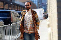 Josh Peskowitz at New York Fashion Week: MensPhoto by Marcy Swingle