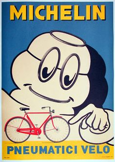 Michelin Vintage Bicycle Poster