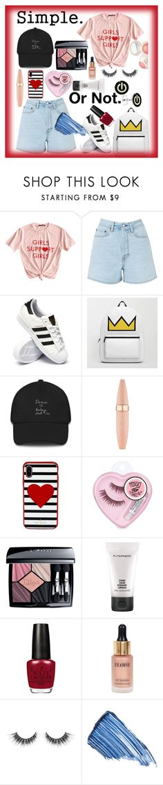 """""""Untitled #121"""" by aluin ❤ liked on Polyvore featuring CO, Acne Studios, adidas, Maybelline, Kate Spade, Christian Dior, MAC Cosmetics, Eloise and Sisley"""