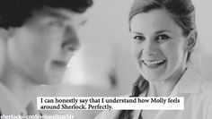 """I can honestly say that I understand how Molly feels around Sherlock. Sherlock 3, Sherlock Holmes, Vatican Cameos, Benedict And Martin, Bbc Drama, Mrs Hudson, Sherlolly, Benedict Cumberbatch Sherlock, 221b Baker Street"