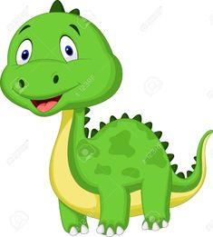 Illustration of Cute green dinosaur cartoon vector art, clipart and stock vectors. Dinosaur Images, Dinosaur Pictures, Cartoon Dinosaur, Dinosaur Funny, Cartoon Mom, Cartoon Photo, Cartoon Pics, Toddler Dinosaur Costume, Dinosaur History