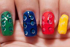 Lego inspired nails