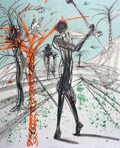 Sports the Golfer 1973 by Salvador Dali - Lithograph