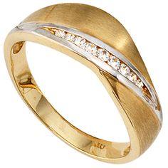 Damen Ring 333 Gold Gelbgold bicolor mattiert 9 Zirkonia Goldring http://cgi.ebay.de/ws/eBayISAPI.dll?ViewItem&item=161959487862&ssPageName=STRK:MESE:IT