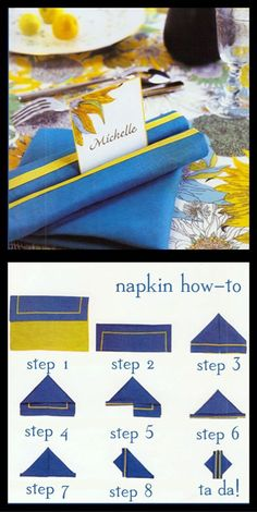 Napkin folding technique - you can even pop a name place card in between the rolls (scheduled via http://www.tailwindapp.com?utm_source=pinterest&utm_medium=twpin&utm_content=post6483940&utm_campaign=scheduler_attribution)