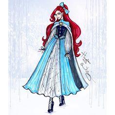 #DisneyDivas 'Holiday' collection by Hayden Williams: Ariel