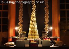 This is the dessert table of the girl who is going to do your flowers......Gemma's  Wedding at Hopetoun House: