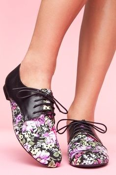 Garden Party Oxfords. #style #fashion #shoes