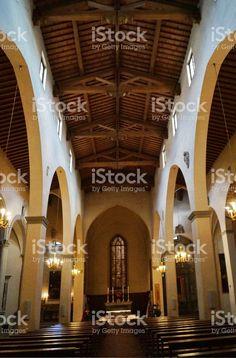 Interior of Saint Stephen church, Empoli foto stock royalty-free