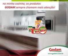 Na minha cozinha só dá Godam! Acesse nosso site: www.godam.com.br