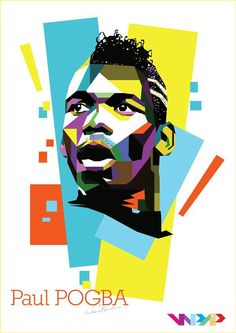 Paul Pogba  #Art Neymar Football, Football Art, Paul Pogba, Soccer World Cup 2018, Lionel Messi Barcelona, Manchester United Fans, Soccer Stadium, Sports Art, Graphic Design Inspiration