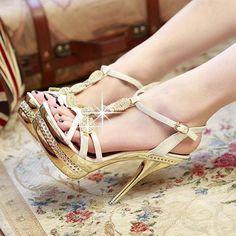 Shoes Heels Expressive Pink Palms Summer Shoes Women High Heels Fretwork Heels Metallic Platform Sandals Strange Square Heel With Wing Neon Yellow