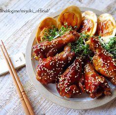 ♡フライパンde超簡単♡手羽元の甘辛生姜煮