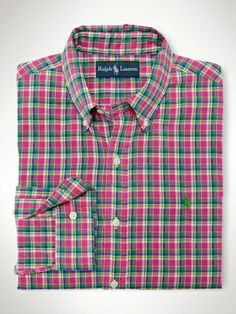 Slim-Fit Plaid Oxford Shirt - Polo Ralph Lauren Slim-Fit - RalphLauren.com