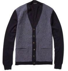 Jil SanderContrast Panel Cotton Cardigan