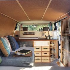 """Original caption: """"Getting to come home to this after a long hike is the best feeling ever. Everything in the van feels right even its tiny flaws. Keep it nice and tidy is quickly becoming our motto ! (Best Camping Hacks)"""