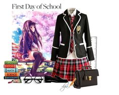 """""""First day to school"""" by dgia ❤ liked on Polyvore featuring Yves Saint Laurent"""