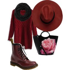 A fashion look from November 2014 featuring Dr. Martens ankle booties and Subtle Luxury scarves. Browse and shop related looks.