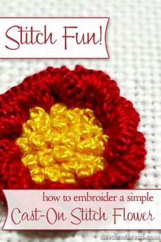 Cast-On Stitch Flower Tutorial
