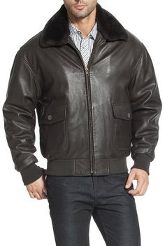 Best Leather Bomber Jackets for Men - Landing Leathers Navy Men's G-1 Goatskin Leather Flight Bomber Jacket - See more at: http://www.perfect-gift-store.com/best-leather-bomber-jackets-for-men.html