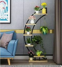 Multi-storey balcony furniture rack room pot style - Trend Home Balcony Furniture, Home Decor Furniture, Furniture Design, House Plants Decor, Plant Decor, Diy Room Decor, Living Room Decor, Best Home Interior Design, Apartment Balcony Decorating