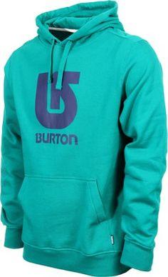 Burton Logo Vertical Hoodie - ultramarine - Men's Clothing > Hoodies & Sweaters > Hoodies > Pullover Hoodies