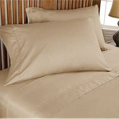 Rajlinen 600 TC Short Queen Sheet Set 60x75 for Camper/RV Solid Taupe