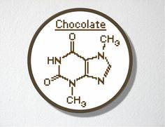 Chocolate Molecule Cross stitch Pattern PDF by CharlotteAlexander, $4.50