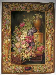 Eye For Design: Needlepoint.Creating Heirlooms For Your Interiors Tapestry Weaving, Wall Tapestry, Art Français, Chintz Fabric, Aubusson Rugs, Floral Garland, French Art, French Style, Needlepoint