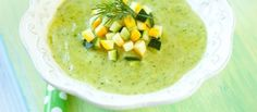 Recipe Chile Poblano Cream with Elotes Source by Vegan Soup, Healthy Soup, Healthy Snacks, Healthy Recipes, Vegetarian, Real Food Recipes, Cooking Recipes, Yummy Food, Creamy Zucchini Soup
