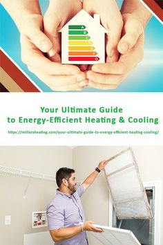 Almost half of a family's utility costs go towards heating and cooling their home. This guide provides ways to increase HVAC efficiency. Heating And Cooling, Energy Efficiency, Living Spaces, Old Things, Cool Stuff, Tips, House, Cool Things, Energy Conservation