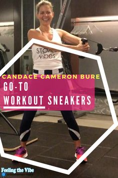 Candace Cameron Bure Workout Sneakers she uses!  Click on the photo :)  #CandaceCameronBure #Workout #Sneakers #Fitness