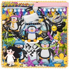 Kit - Meus Pequenos Pinguins by Fa Maura [FaMaura_KitMeusPequenosPinguins] - $5.60 : FaMaura.com - scrapshop