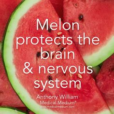 Melon protects the brain & nervous system🌟 Learn more about the healing powers of melon in my book Life-Changing Foods, link in bio👆🏻 Health Facts, Health And Nutrition, Health And Wellness, Nutrition Guide, Health Care, Medical Medium Anthony William, Brain Nervous System, Fruit Benefits, Coconut Health Benefits
